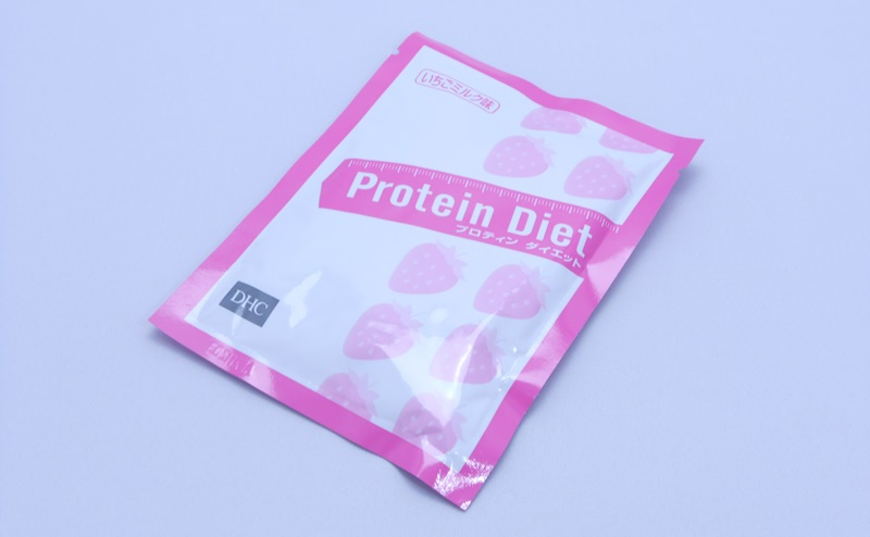 DHCプロティンダイエットいちごミルク味のパッケージ