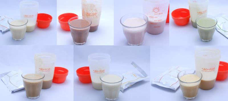 ヘルシーバンク美容液ダイエットシェイクの7種類の味