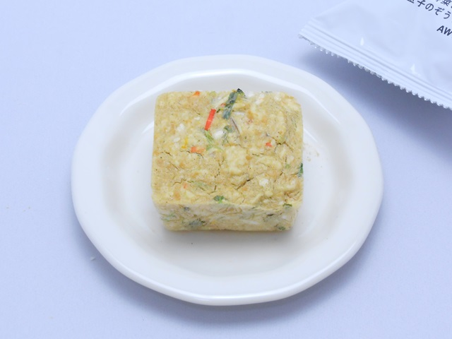 ローカロ生活の緑黄色野菜と玉子の雑炊のフリーズドライ