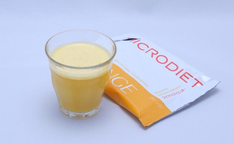 マイクロダイエットドリンクのオレンジ味