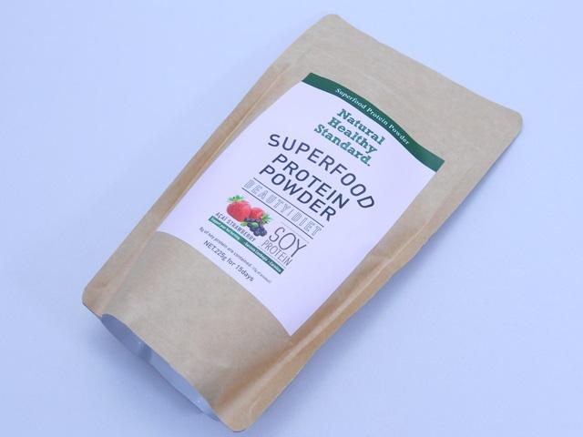 ナチュラルヘルシースタンダードスーパーフードプロテインのパッケージ