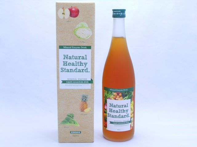 ナチュラルヘルシースタンダードミネラル酵素ドリンクのパッケージとボトル
