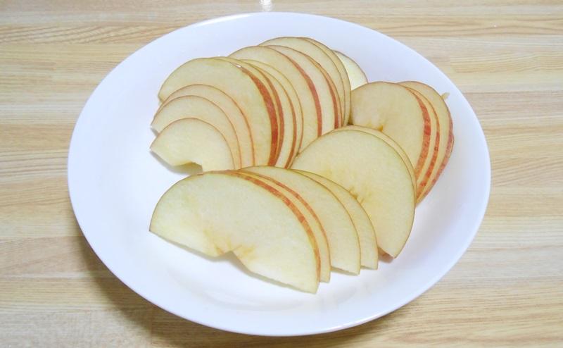 りんごのスライス切りが完成