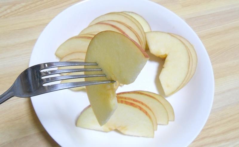りんごのスライス切りの見た目