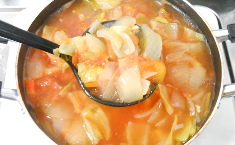 脂肪燃焼スープ作りの完成