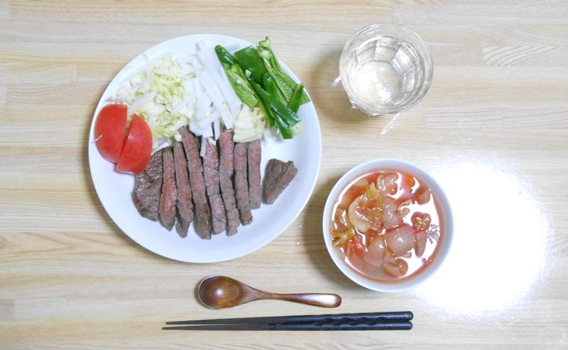 脂肪燃焼スープ6日目:野菜と牛肉の日