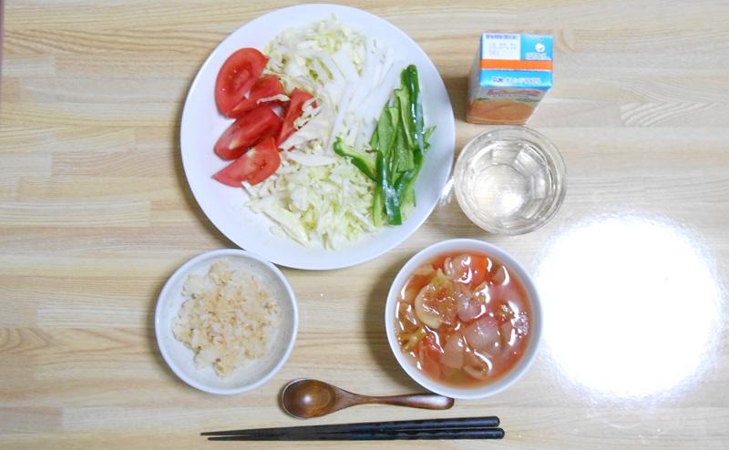 脂肪燃焼スープ7日目最終日:玄米と野菜とフルーツの日
