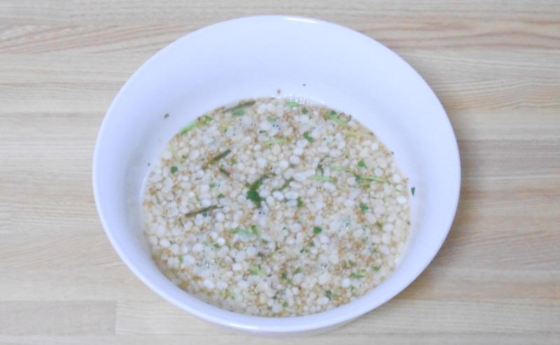 ヘルシーキューピー玄米雑炊の和風鮭の完成