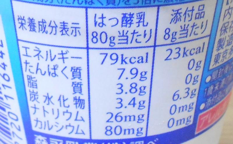 【パルテノ】濃密ギリシャヨーグルト はちみつ付の栄養成分