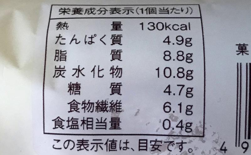 【ローソン】大麦パン バター入りマーガリンサンドの栄養成分