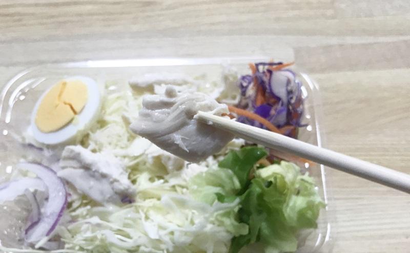 【ローソン】玉子と蒸し鶏のサラダを食べた感想