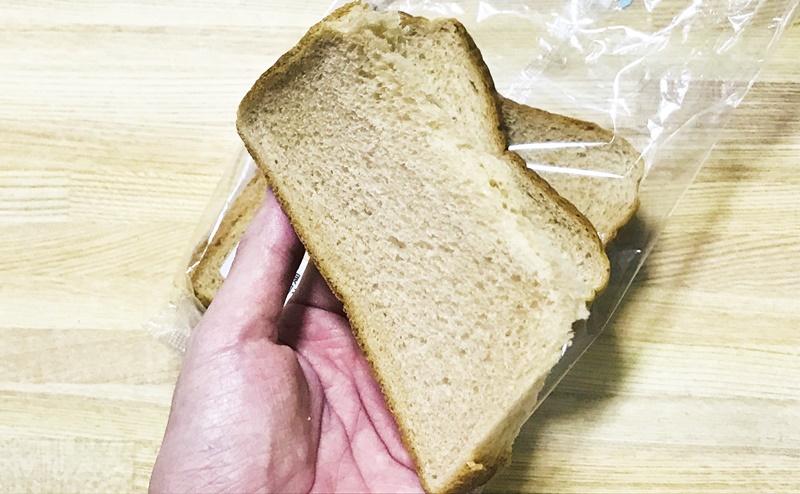 【ローソン】ブラン入り食パン4枚入の断面
