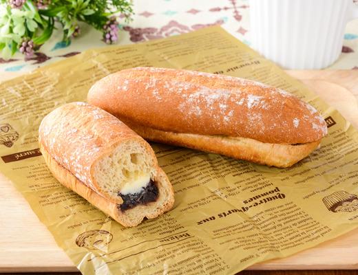 ローソン   もち麦のあんフランスパン