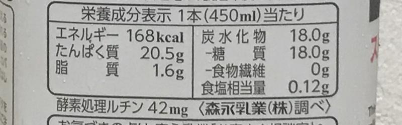 inPROTEIN ストロベリーヨーグルト風味の栄養成分