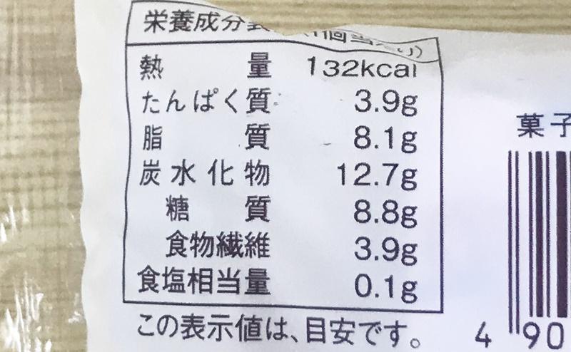 【ローソン】しっとりカステラケーキの栄養成分表示
