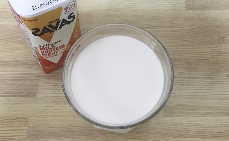 ザバス | ミルクプロテインミックスフルーツ風味の見た目