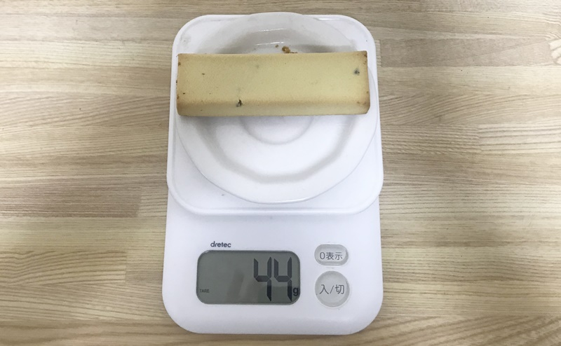 【アサヒ】1本満足バー プロテイン・ラン ベイクドバナナの重さ