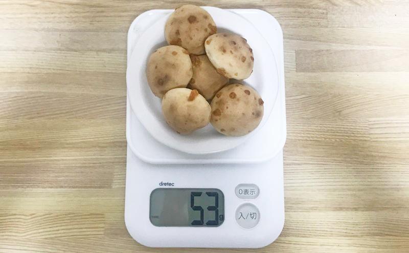 ローソン | ブランのチーズモッチボール 6個入〜乳酸菌入〜の重さ